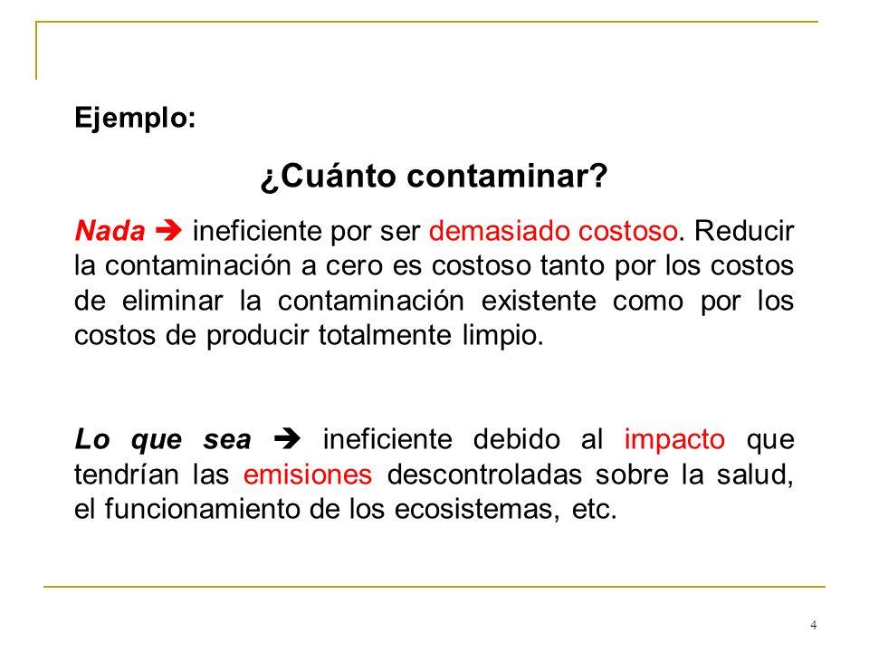 ¿Cuánto contaminar Ejemplo: