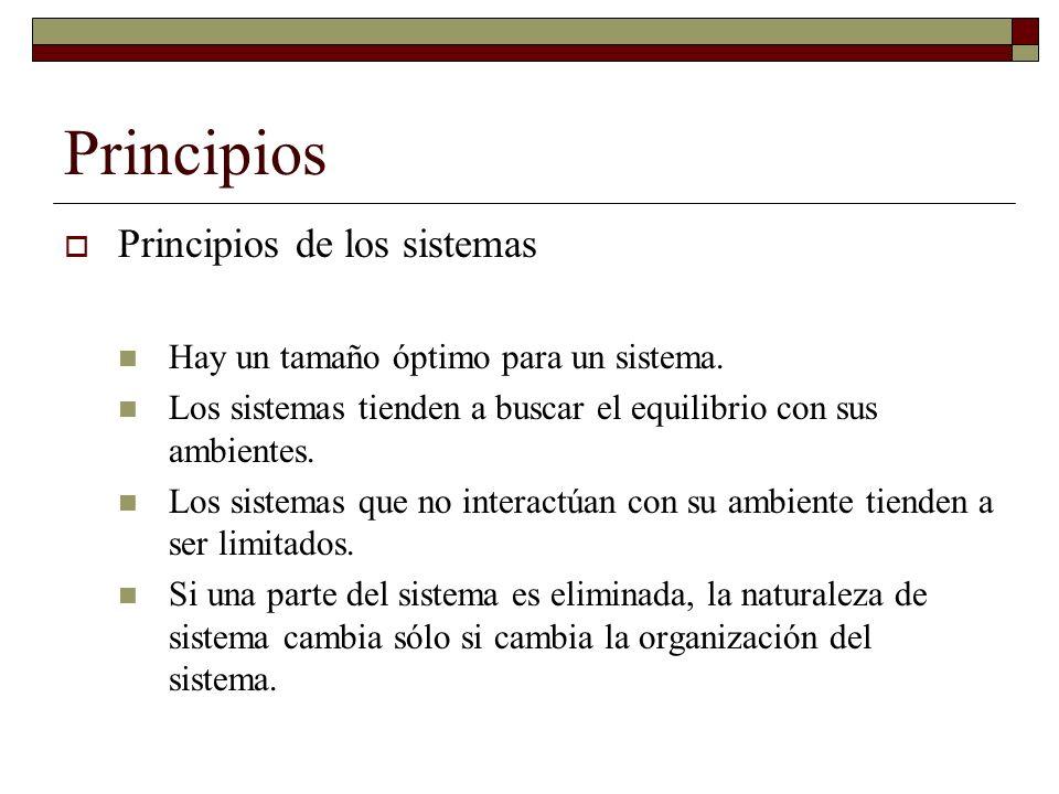 Principios Principios de los sistemas