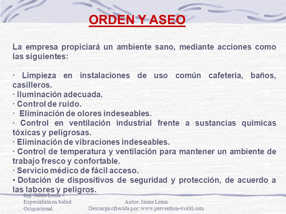 Autor: Jaime Lema Descarga ofrecida por: www.prevention-world.com