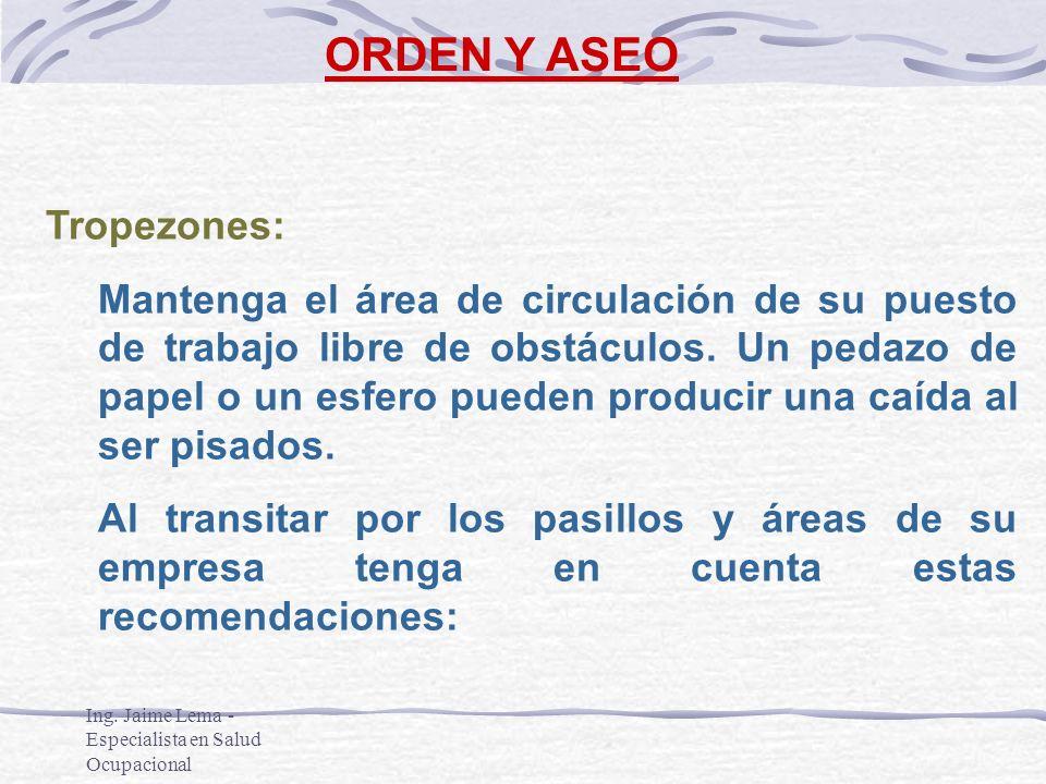 ORDEN Y ASEO Tropezones: