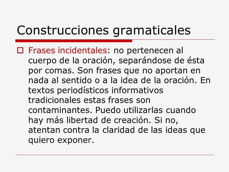 Construcciones gramaticales