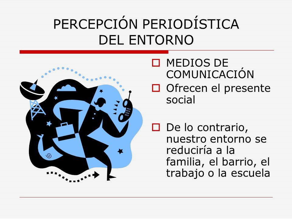 PERCEPCIÓN PERIODÍSTICA DEL ENTORNO