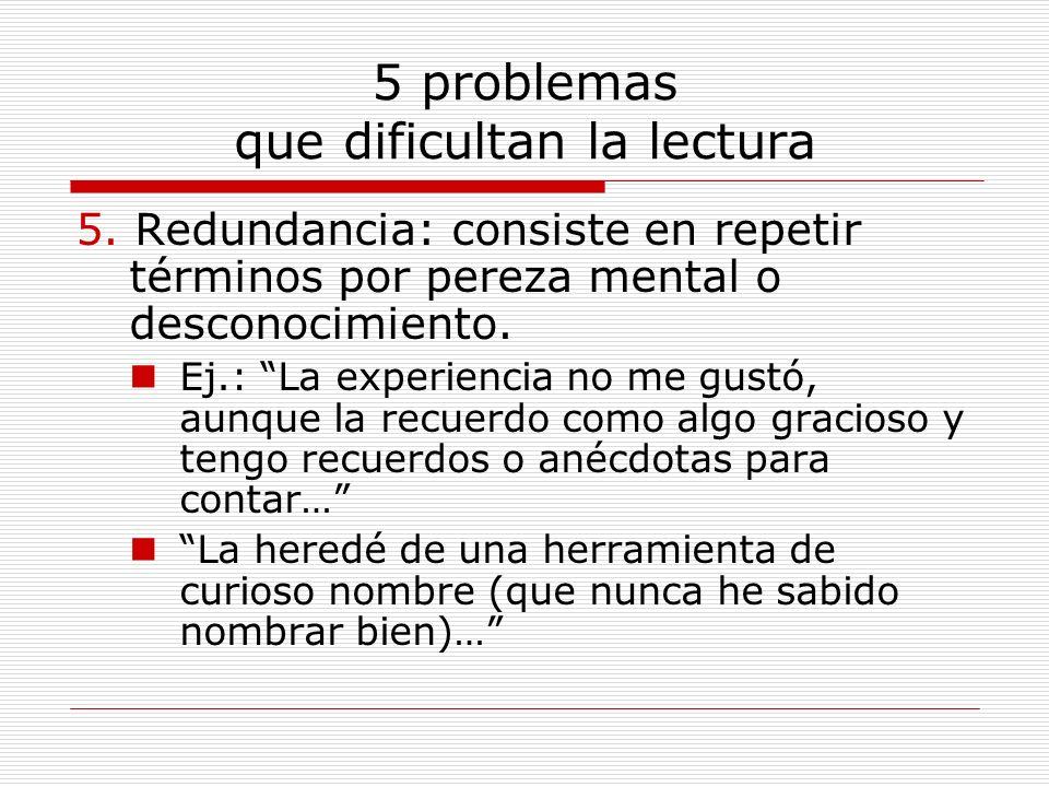5 problemas que dificultan la lectura
