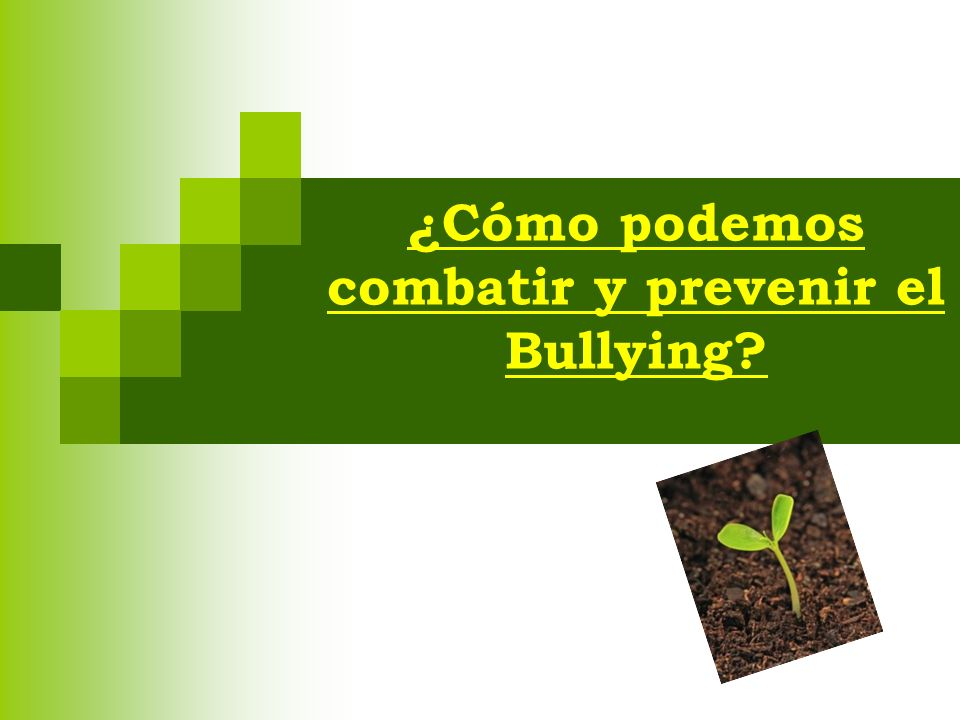 ¿Cómo podemos combatir y prevenir el Bullying
