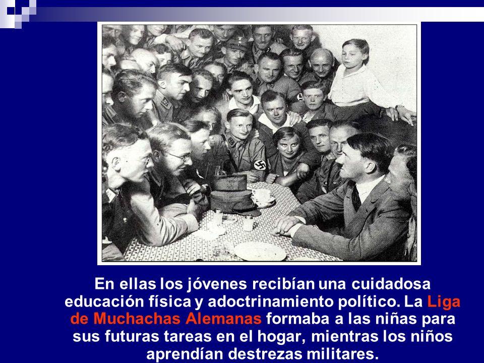 En ellas los jóvenes recibían una cuidadosa educación física y adoctrinamiento político.
