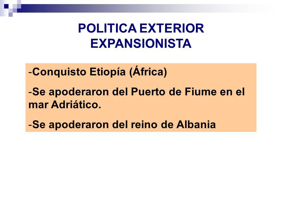 POLITICA EXTERIOR EXPANSIONISTA