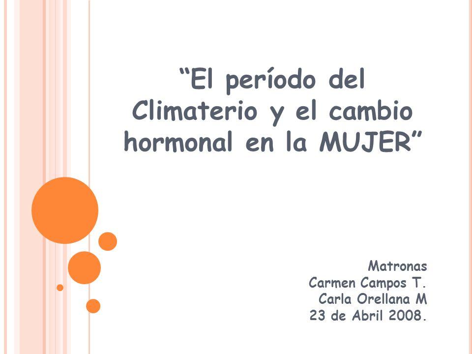 El período del Climaterio y el cambio hormonal en la MUJER
