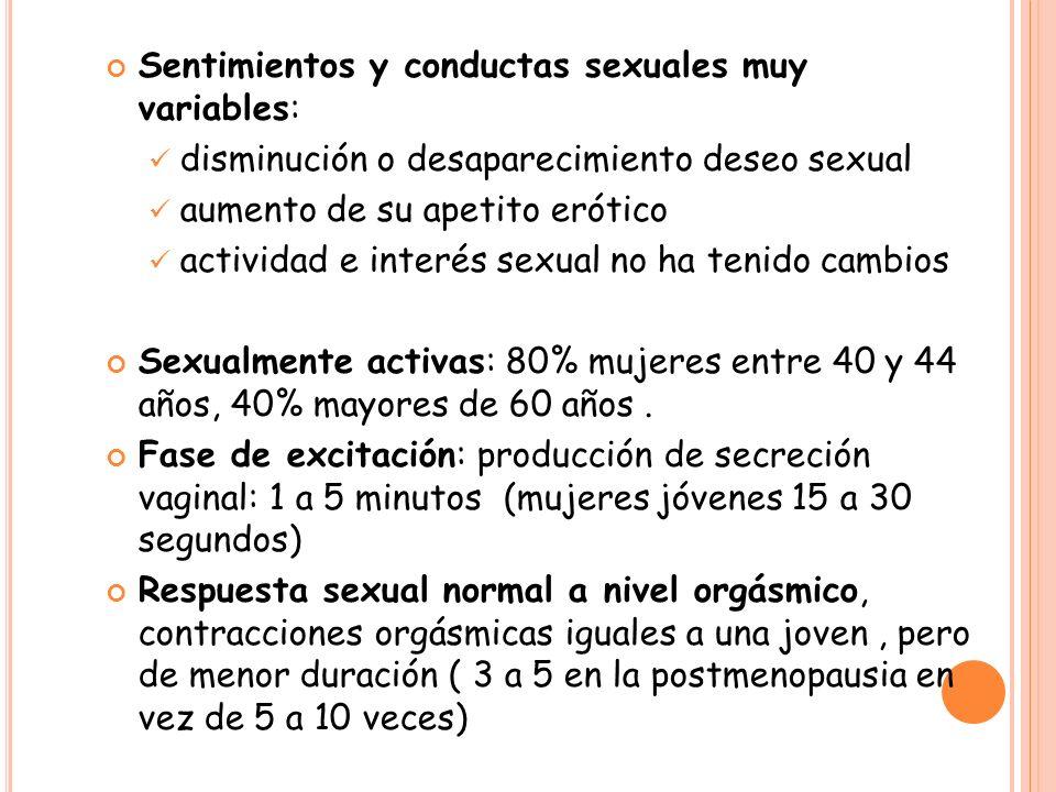 Sentimientos y conductas sexuales muy variables: