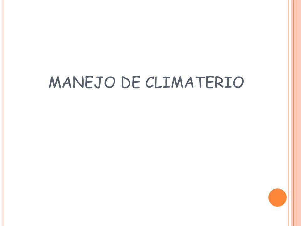 MANEJO DE CLIMATERIO