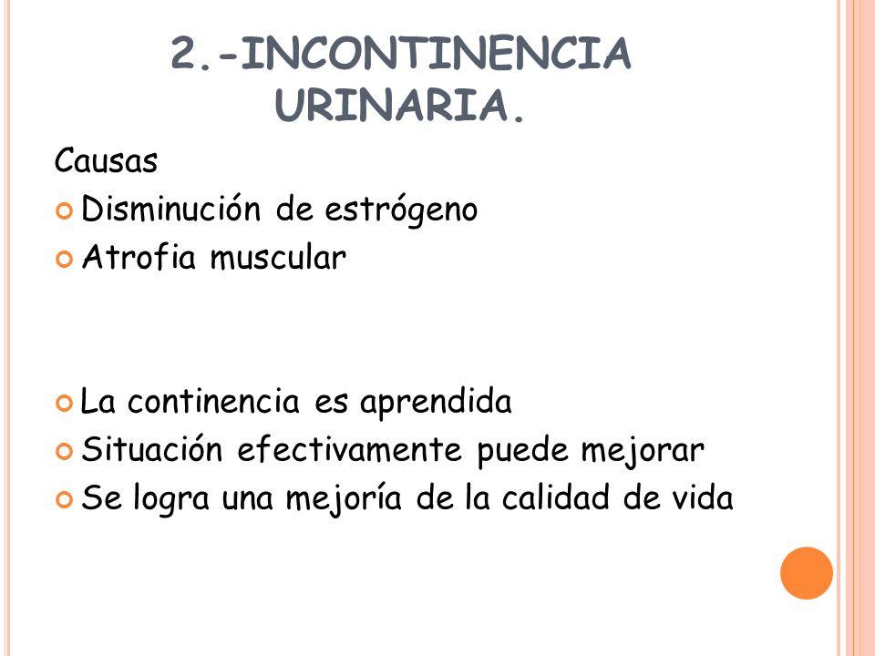 2.-INCONTINENCIA URINARIA.