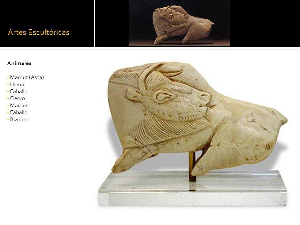Artes Escultóricas Animales Mamut (Asta) Hiena Caballo Ciervo Mamut