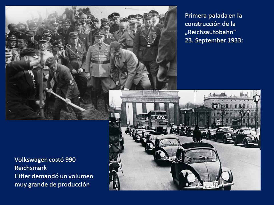 """Primera palada en la construcción de la """"Reichsautobahn 23"""