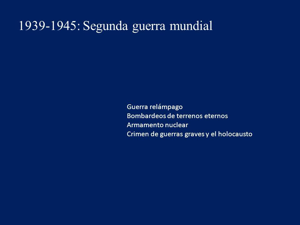 1939-1945: Segunda guerra mundial