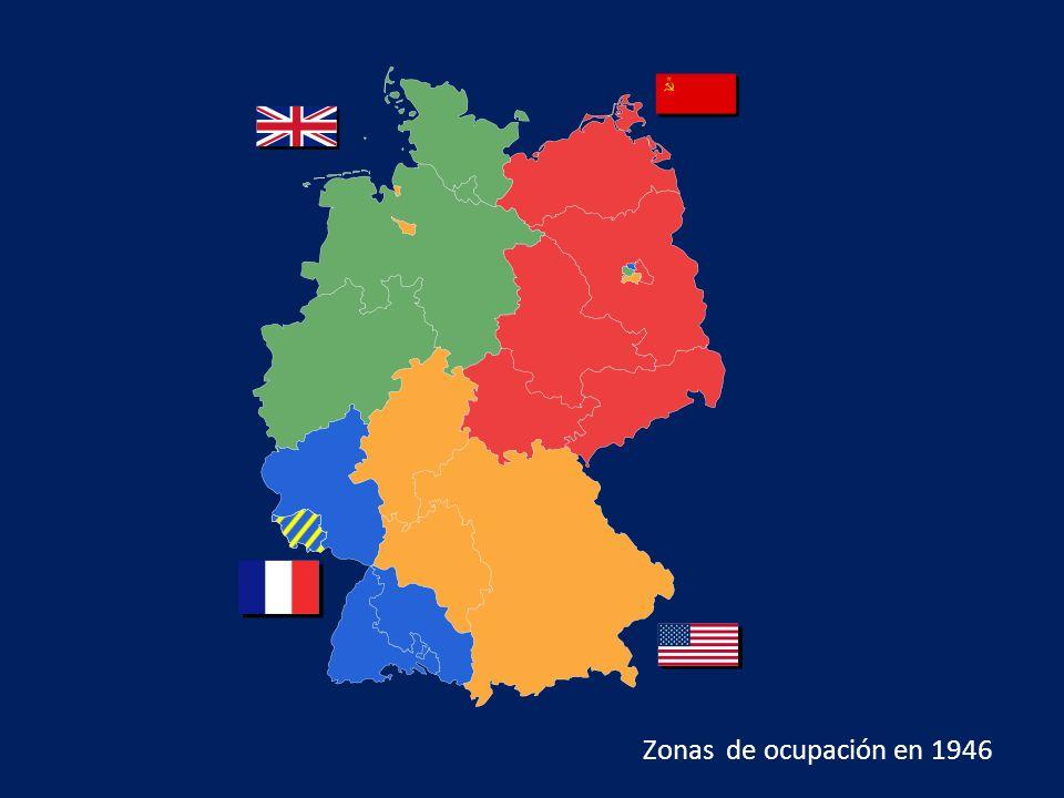 Zonas de ocupación en 1946