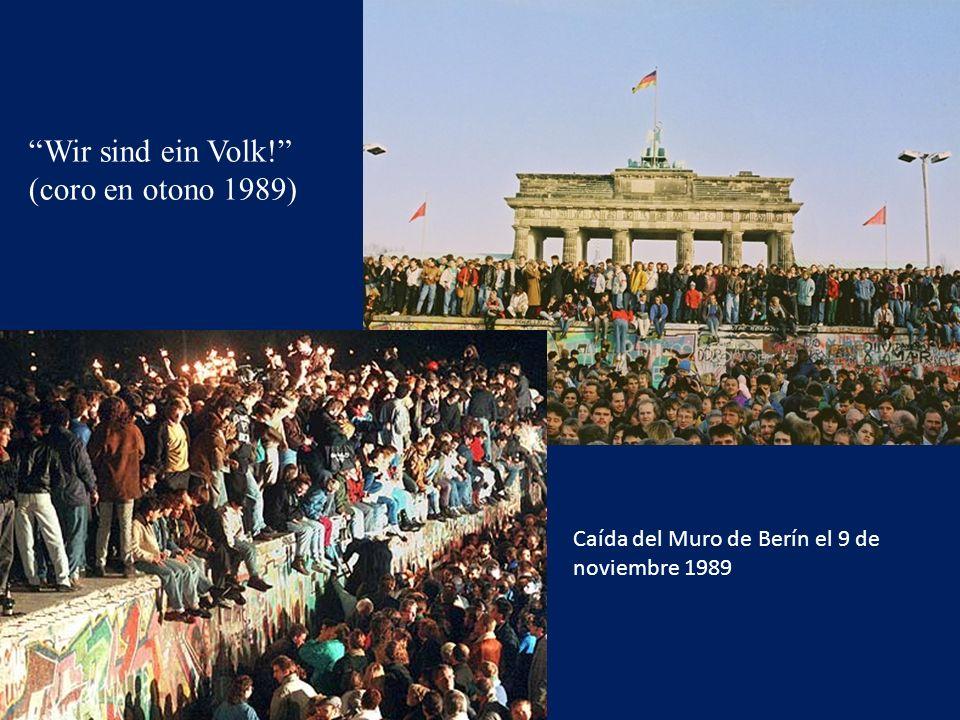 Wir sind ein Volk! (coro en otono 1989)