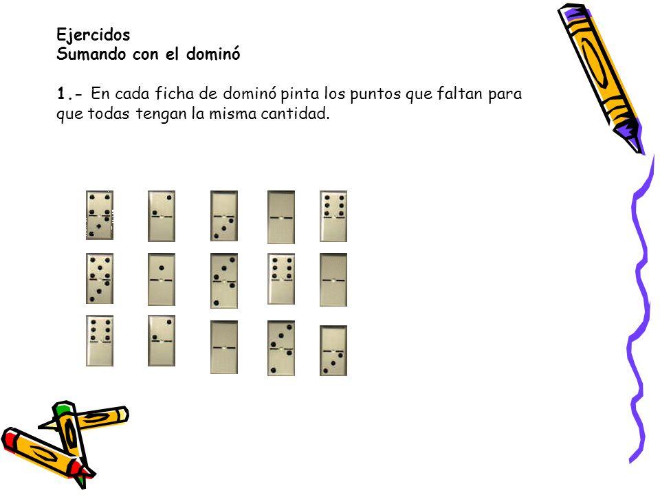 Ejercidos Sumando con el dominó 1