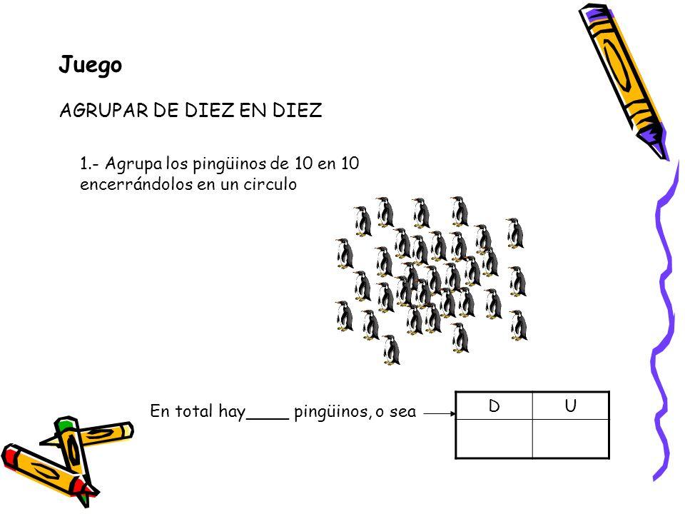 Juego AGRUPAR DE DIEZ EN DIEZ