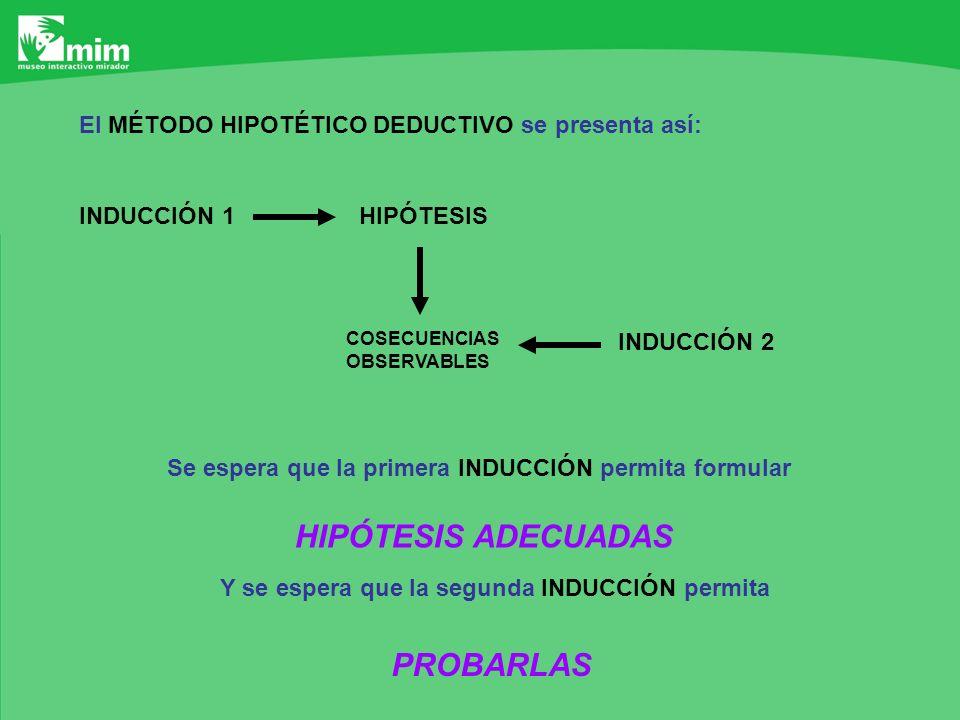 HIPÓTESIS ADECUADAS PROBARLAS