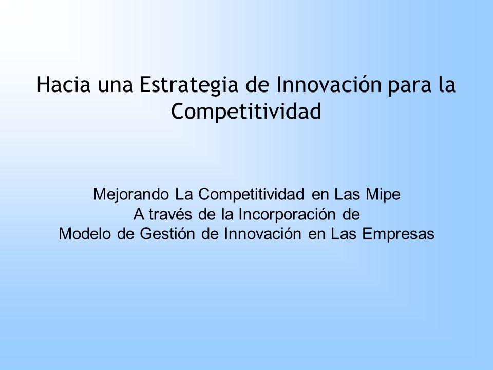 Hacia una Estrategia de Innovación para la Competitividad