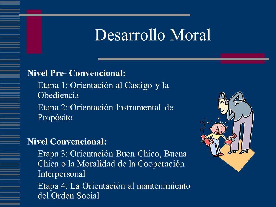 Desarrollo Moral Nivel Pre- Convencional:
