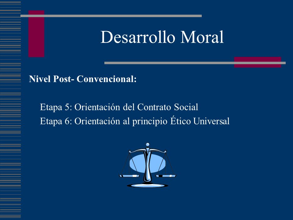 Desarrollo Moral Nivel Post- Convencional: