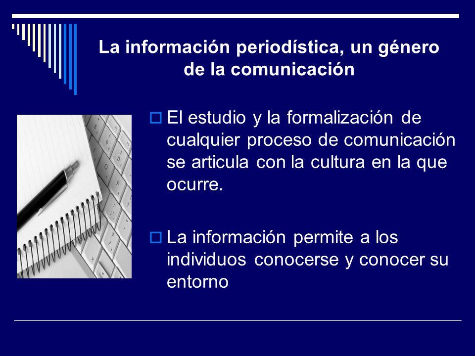 La información periodística, un género de la comunicación