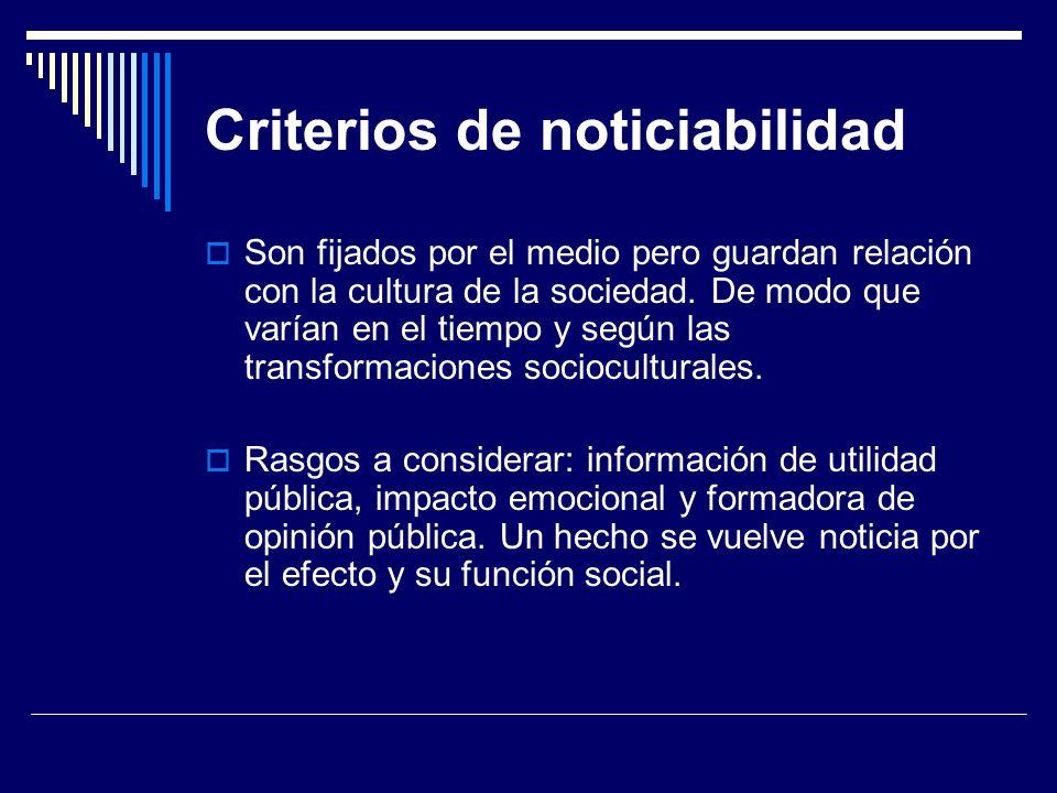 Criterios de noticiabilidad