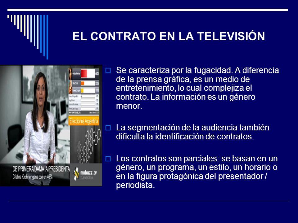 EL CONTRATO EN LA TELEVISIÓN