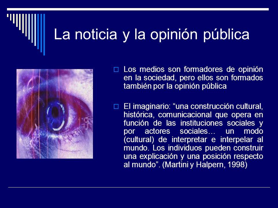 La noticia y la opinión pública