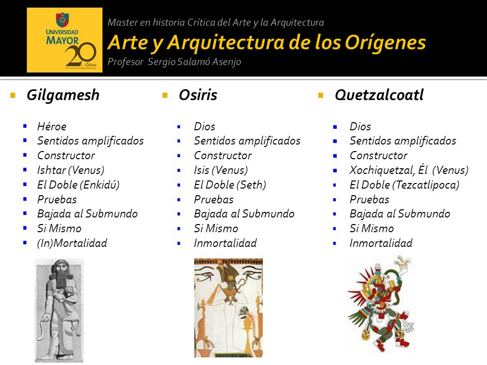 Gilgamesh Osiris Quetzalcoatl Héroe Sentidos amplificados Constructor