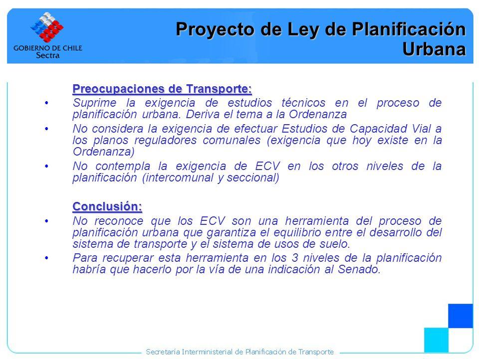 Proyecto de Ley de Planificación Urbana
