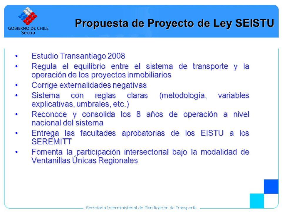 Propuesta de Proyecto de Ley SEISTU