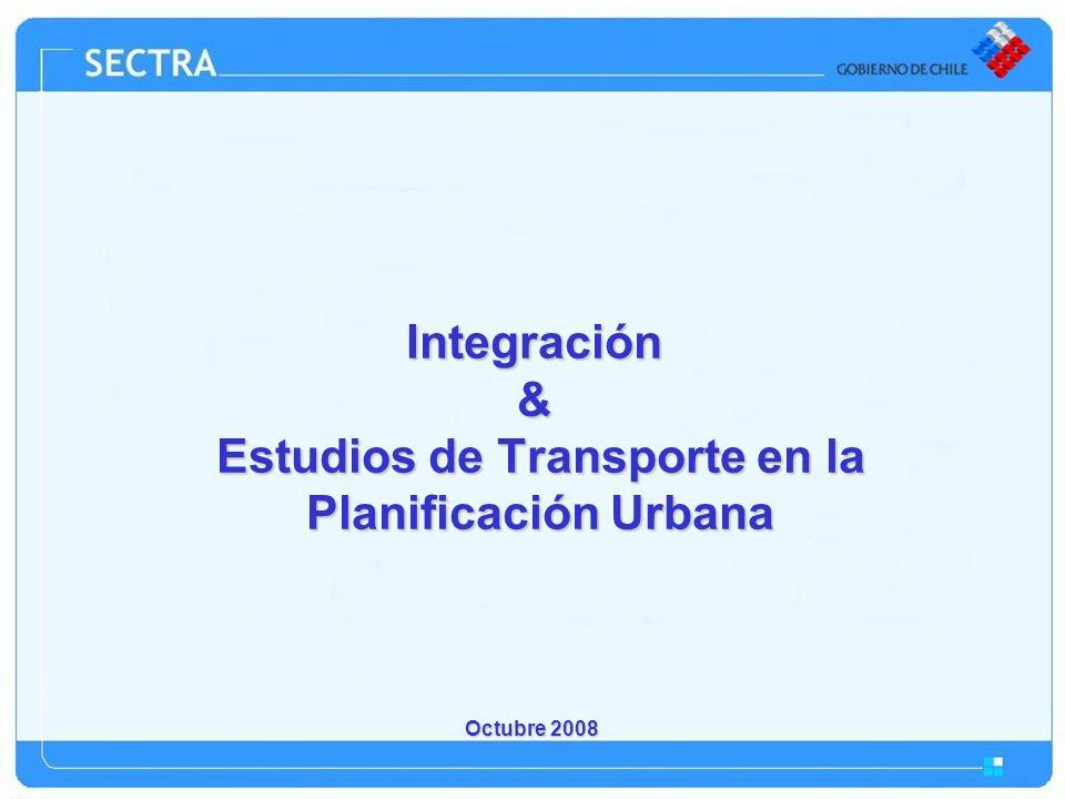 Integración & Estudios de Transporte en la Planificación Urbana