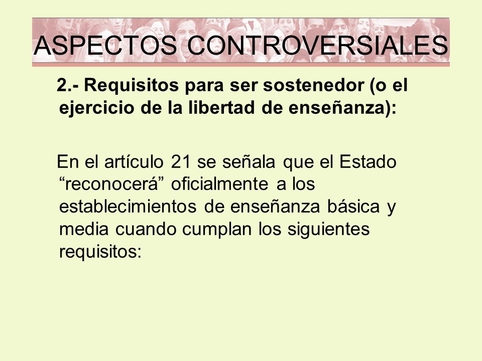 ASPECTOS CONTROVERSIALES