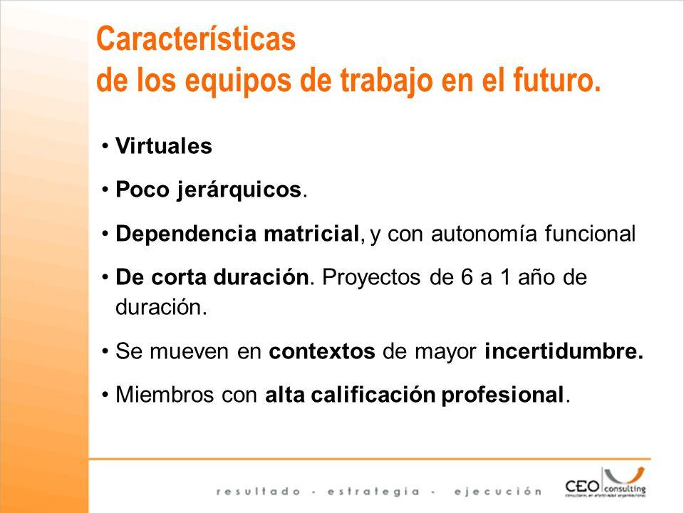 Características de los equipos de trabajo en el futuro.
