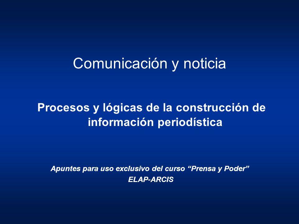 Apuntes para uso exclusivo del curso Prensa y Poder