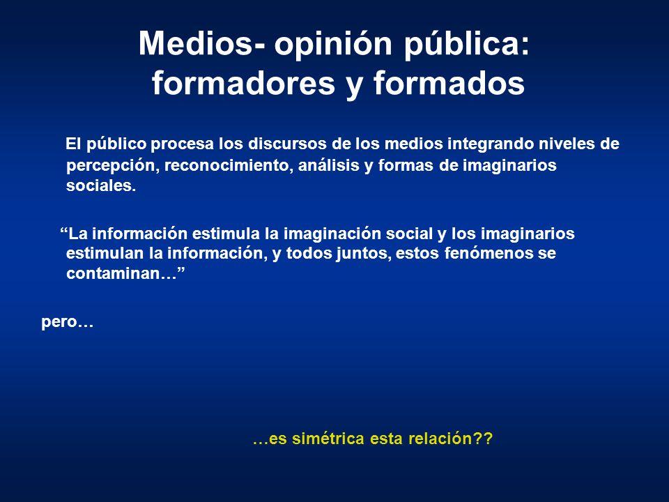 Medios- opinión pública: formadores y formados