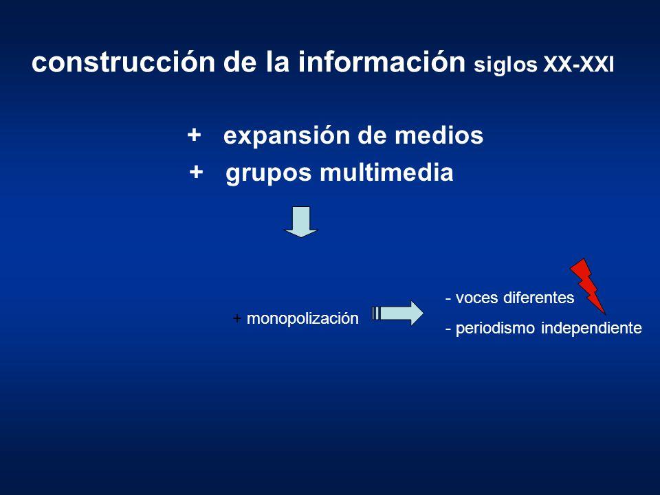 construcción de la información siglos XX-XXI