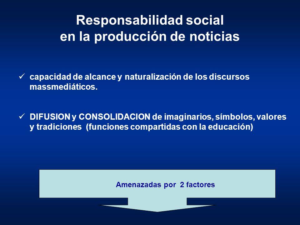 Responsabilidad social en la producción de noticias