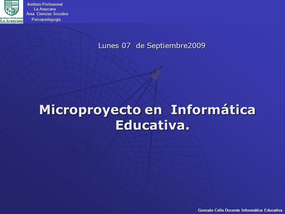 Microproyecto en Informática Educativa.