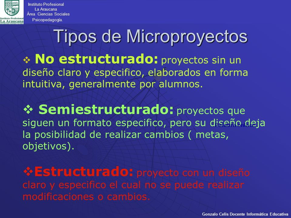 Tipos de Microproyectos
