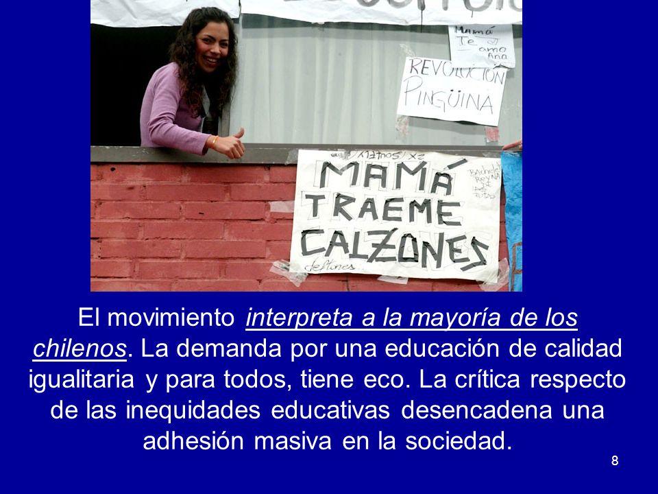 El movimiento interpreta a la mayoría de los chilenos