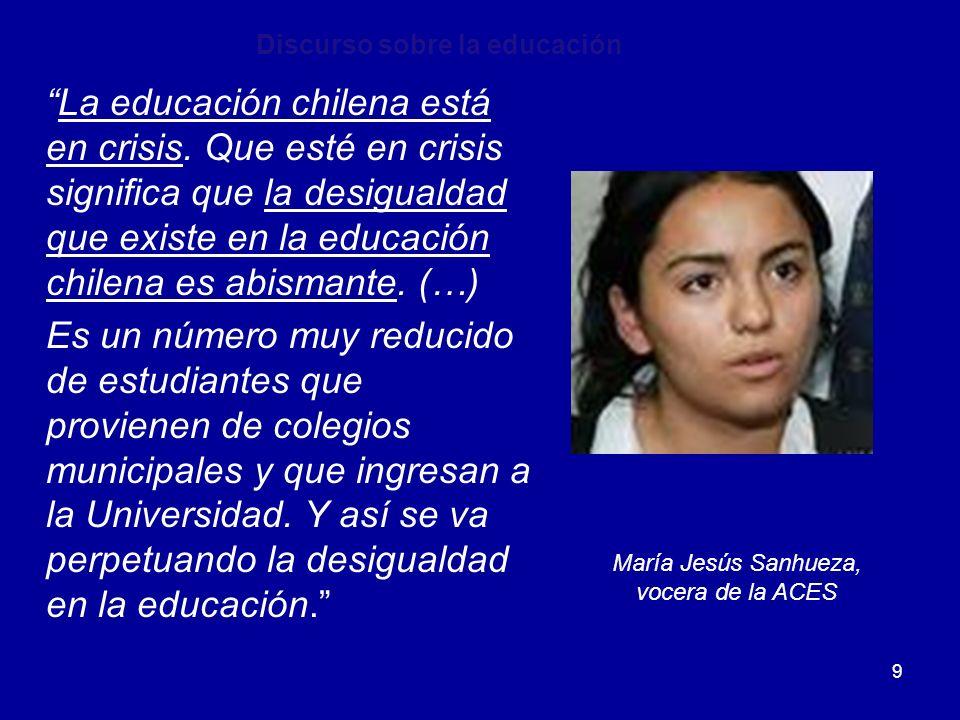 Discurso sobre la educación
