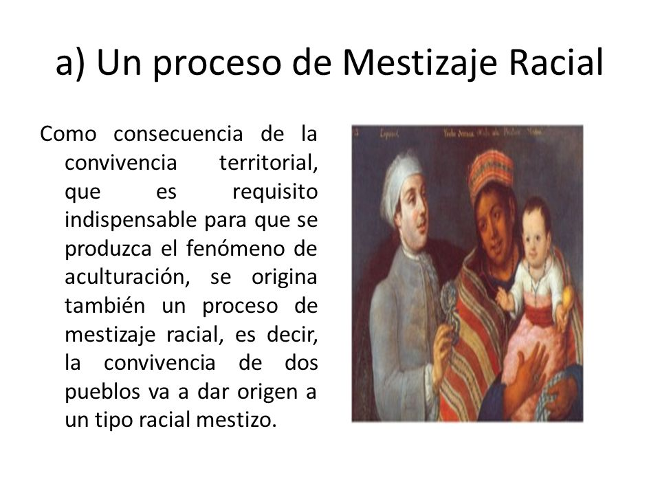 a) Un proceso de Mestizaje Racial
