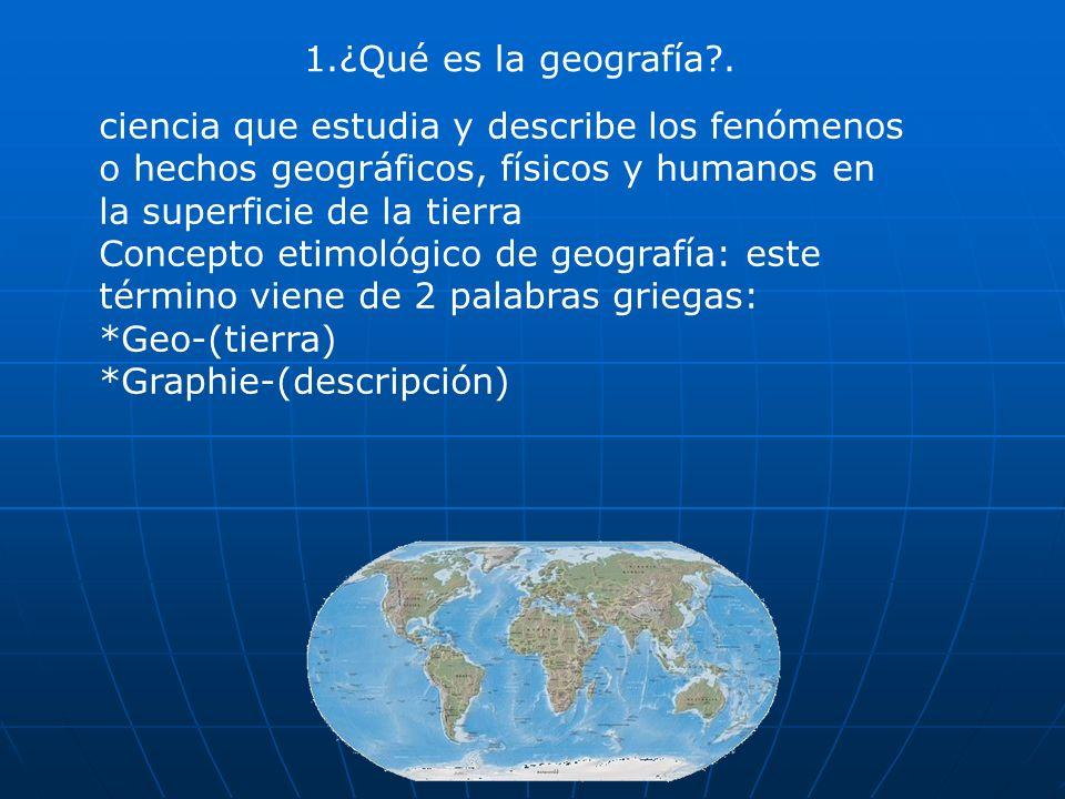 1.¿Qué es la geografía .