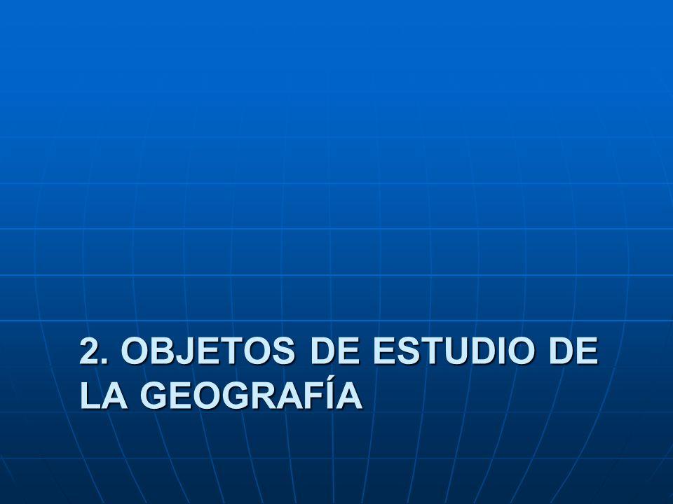 2. OBJETOS DE ESTUDIO DE LA GEOGRAFÍA