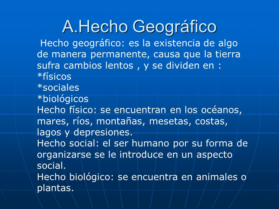 A.Hecho Geográfico