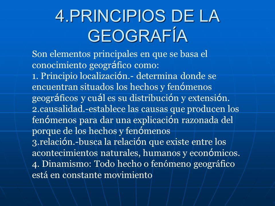 4.PRINCIPIOS DE LA GEOGRAFÍA