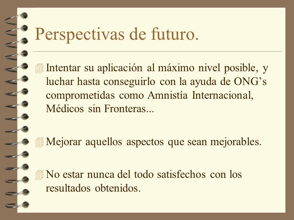 Perspectivas de futuro.