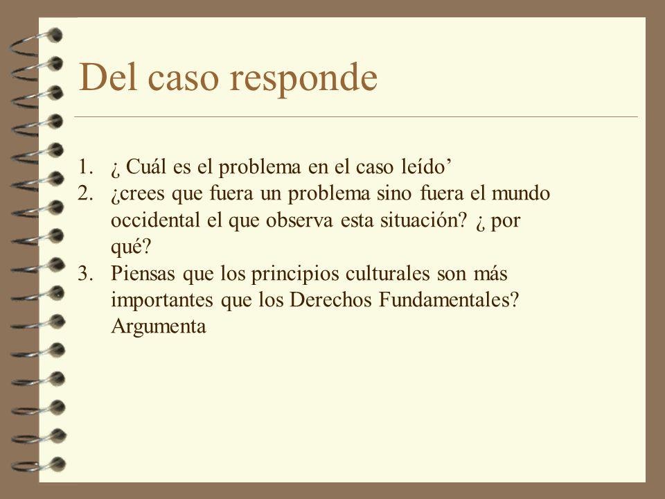 Del caso responde ¿ Cuál es el problema en el caso leído'